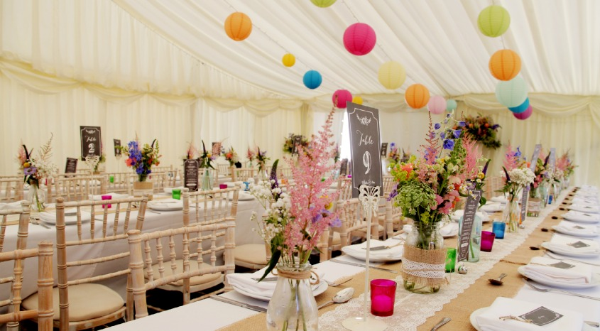 marquee wedding in nottinghamshire
