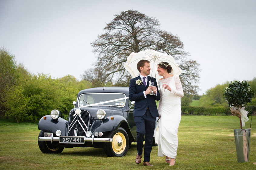 Thanks to the unpredictable British weather, even a wedding in the height of summer isn't guaranteed to be hot and dry.