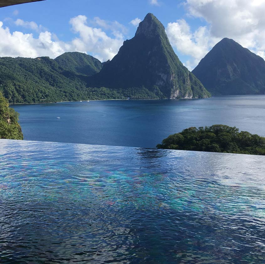 Jade Mountain - View of The Pitons - St Lucia
