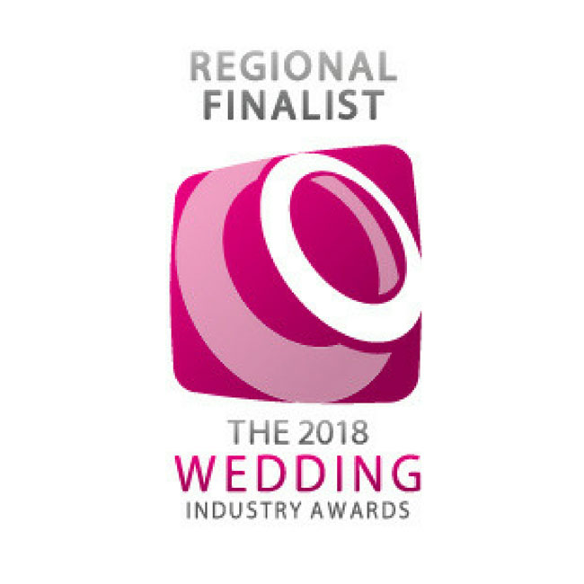 Absolutely thrilled and excited to let you know we're through to the regional finals of The Wedding Industry Awards for the 4th year running.