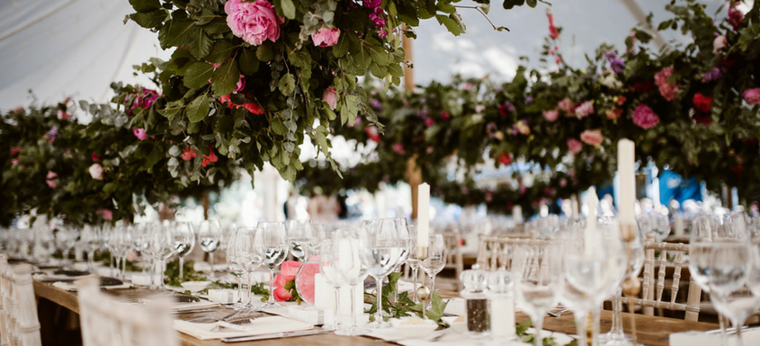 Whether you're serving a sit-down meal or a relaxed buffet, both you and your wedding guests will spend a considerable amount of time seated at your wedding reception tables.