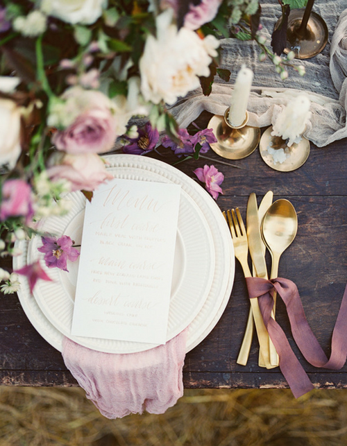 wedding table stationery