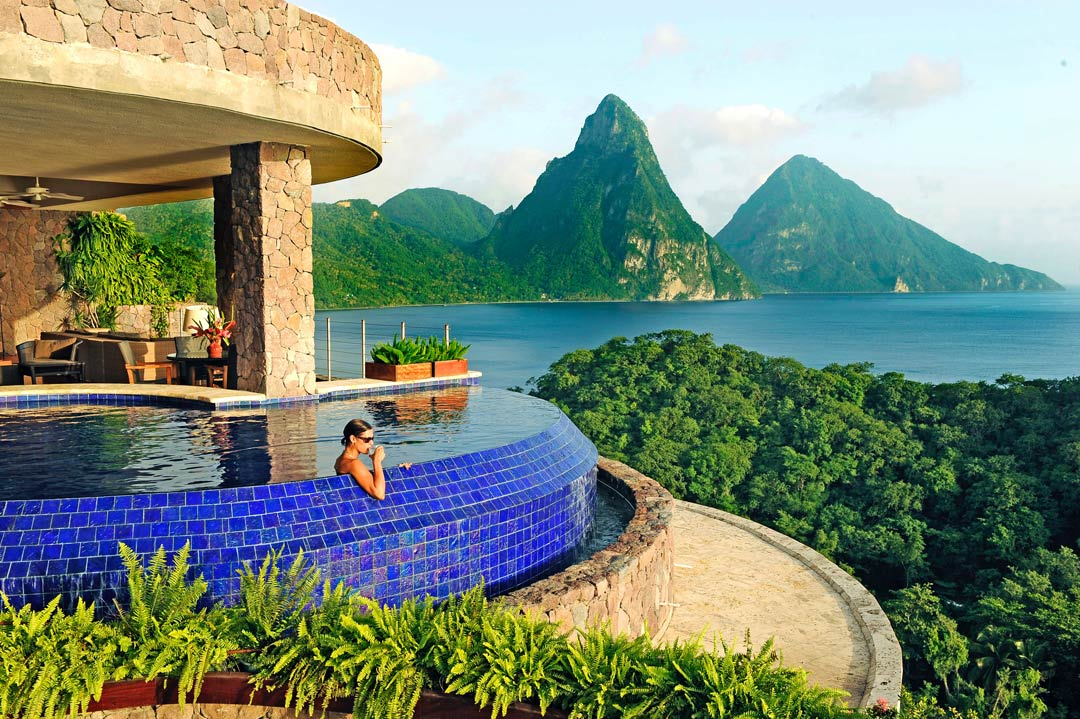 Perfect Caribbean honeymoon location - Pitons View